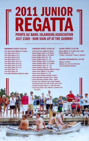 2011 Junior Regatta Poster