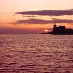 Light house sunset