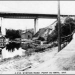 C.P.R. Station road postcard
