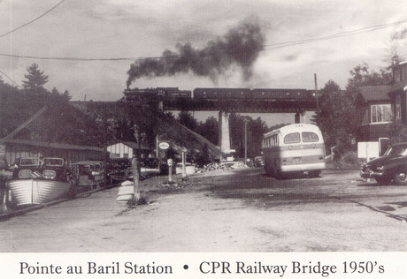 C.P.R Bridge postcard