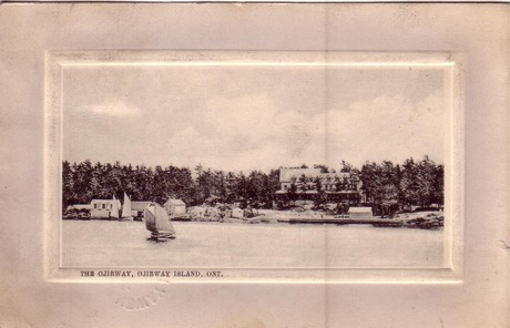 The Ojibway Hotel, Ojibway Island, 1910