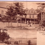 Ojibway Hotel, about 1910, split image on card