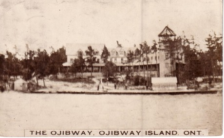 Ojibway Hotel, after 1913 addition of tower