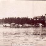 Ojibway Hotel photo postcard, 1916