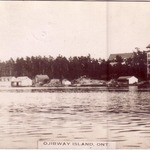 Ojibway Hotel photo postcard, 1916