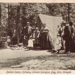 Indian Camp on Ojibway Island, 1912