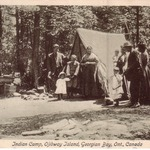 Indian Camp on Ojibway Island, 1912