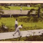 Shuffleboard and Badminton Courts at the Ojib