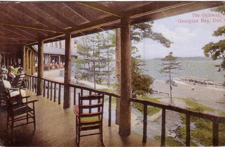 Verandah at the Ojibway Hotel, 1924