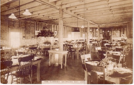 Dining Room at the Ojibway, 1920s