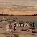 Wharf at the Ojibway Hotel, 1916