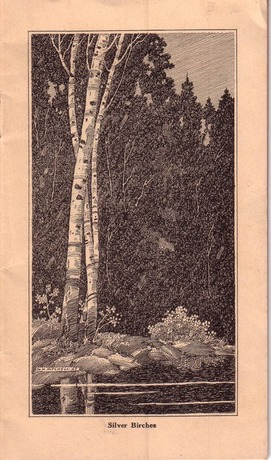 Brochure from Ojibway Hotel inside drawing by G H Mitchell, 1927