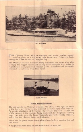 1932 Brochure Hotel accomodations