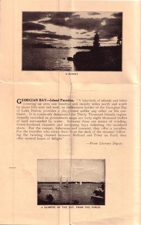1932 Brochure Georgian Bay Island Paradise