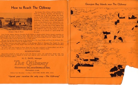 1935 Brochure with names marked on map