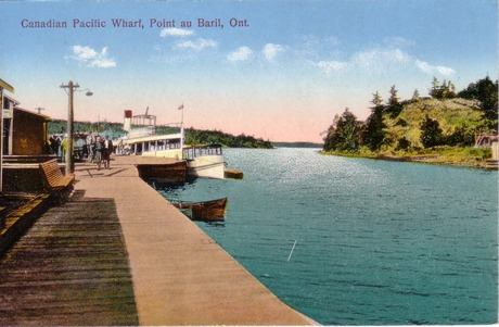 Canadian Pacific Wharf  at Point Au Baril