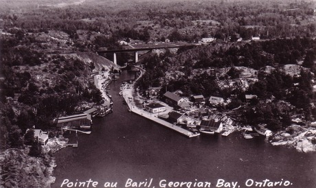 Pointe Au Baril from the air, 1950's