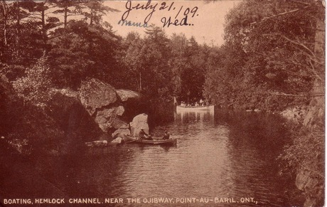 Hemlock Channel mailed 1909