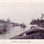 Canoeing at Point Aux Baril 1913