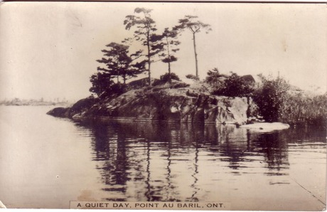 A Quiet Day Point Au Baril  mailed Aug 30, 1941