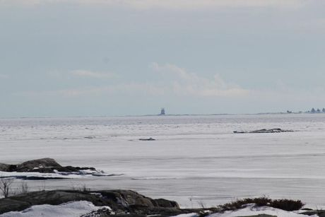 Looking south toward Red Rock Lighthouse from south Osawa