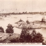 View Among Islands, Point Au Baril, mailed Aug 12, 1916