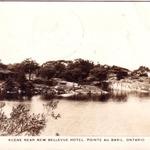 Scene near the New Bellevue Hotel in the 1940s
