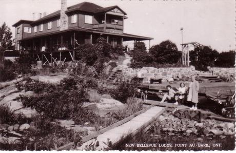 Bellevue Hotel card mailed in 1950