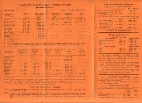 Time Table 1938 other side