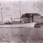 H Ward Leonards yacht at the Bellevue