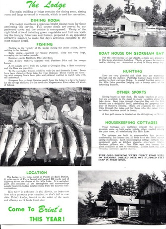 Brints Lodges Brochure other side