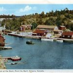 Gordon's Restaurant at the dock, Point Au Baril -1947