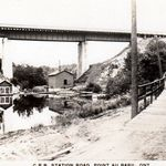 Point au Baril Station Road - probably around 1930