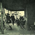 On the veranda of the Skerryvore Hotel