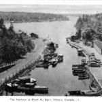The Harbour at Pointe au Baril - late 1930's