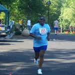 Race Participant in Action