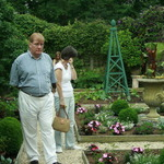 Norman & Liz in the Parterre Garden