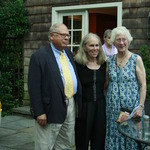 Garden hosts John & Phillis Warden, guest Inge Brown