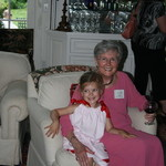 Library Director, Rhoda Gushue with granddaughter Georgia