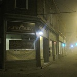 Foggy night on the Life*SPIN block