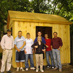 Beal Secondary School Students Help to Build the Garden Shed