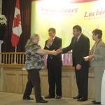 Debbie gets her award!