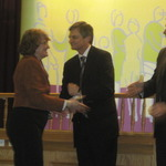 Patricia get her award!