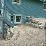 Large Boulder Retaining Wall
