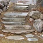 Sawn Boulder Steps & Steppers