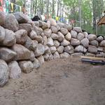 Large Boulder Wall