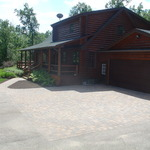 Custom Paver Pad & Walk - Minnesota River Blend Color
