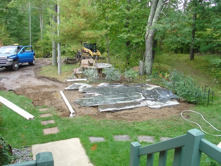 Rock Slab Patio