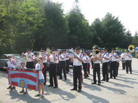 Warming up for the Westerly/Pawcatuck Parade Memorial Day 2012