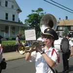 Alison and Dana (Trumpets), Jim (Tuba), Kim (Bass Drum)